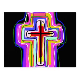 Contemporary Christian symbol. Postcard