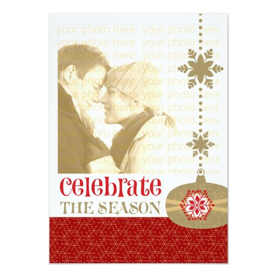 Contemporary Christmas 5 x 7 Photo Cards