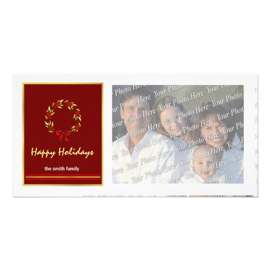 Contemporary Christmas Holiday Photo Cards
