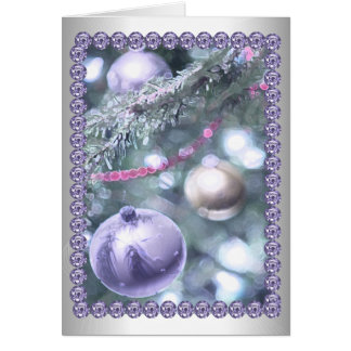 Contemporary Christmas Ornaments Card