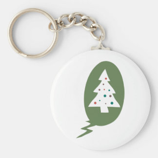 Contemporary Christmas Tree Keychain