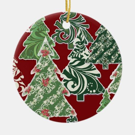 Contemporary Christmas Trees Ornament Zazzle
