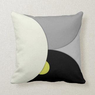 Contemporary Circles Throw Pillow