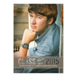 Contemporary Class of 2015 Photo Graduation Party 5x7 Paper Invitation Card