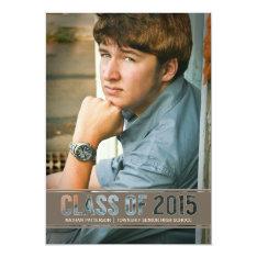 Contemporary Class of 2015 Photo Graduation Party 5x7 Paper Invitation Card at Zazzle