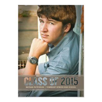 Contemporary Class of 2015 Photo Graduation Party Invitation