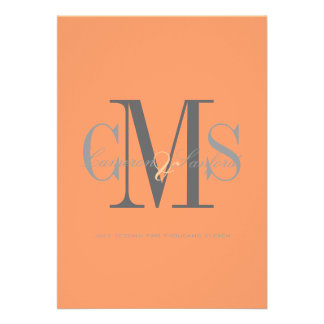 Contemporary + classy/orange + spice invitations