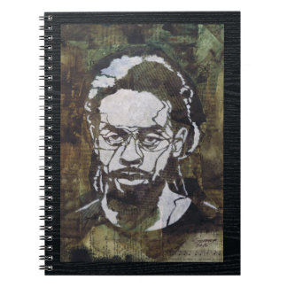 Contemporary Collage Stencil Art of a Man Notebook