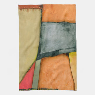 Contemporary Colorful Geometric Shapes Hand Towel