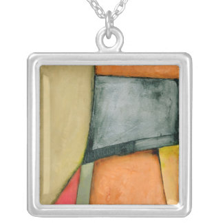 Contemporary Colorful Geometric Shapes Personalized Necklace