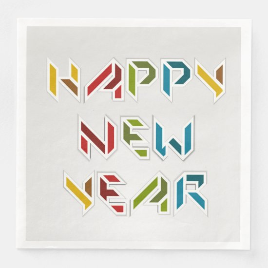 Contemporary, Colorful New Years Eve Napkins