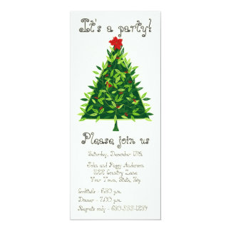 Contemporary Conifer Christmas Party Invitation
