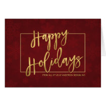 Contemporary Corporate Hand-Lettered Holiday Cards