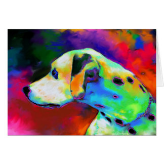 Contemporary Dalmatian Dog portrait Greeting Card