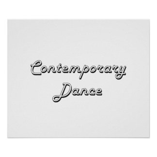 Contemporary Dance Classic Retro Design Poster