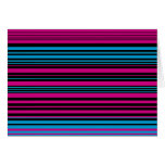 Contemporary dark pink black and blue stripes card