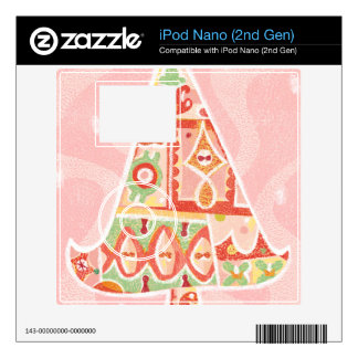 Contemporary Decorative Christmas Tree Decal For The iPod Nano