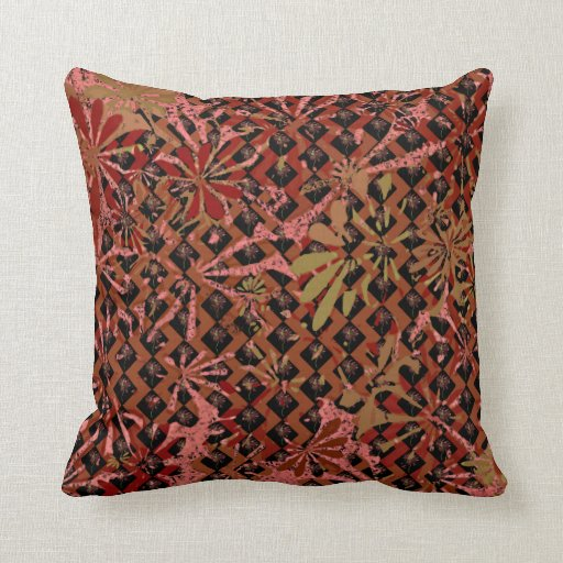 Contemporary Decorative Floral Throw Pillow