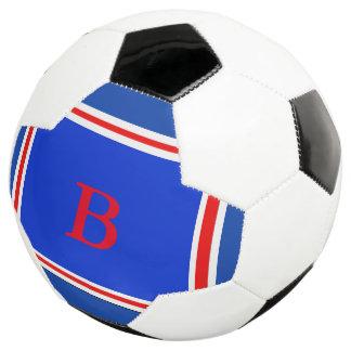 Contemporary Design-Blue White & Red Soccer Ball