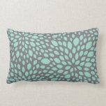 Contemporary Design Pillow in Aqua & Gray