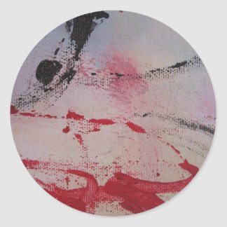 Contemporary designs based on artwork by L Baines Classic Round Sticker