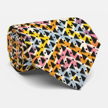 Professional Business Contemporary diamond shaped blue pink black tie