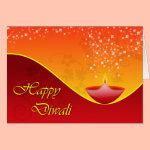 Contemporary Diwali Greeting Card