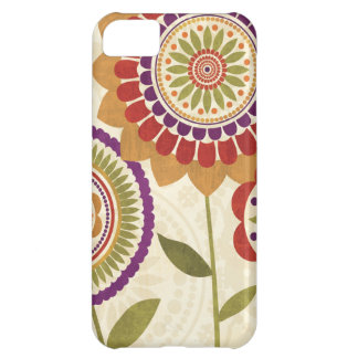 Contemporary Fall Flowers Cover For iPhone 5C