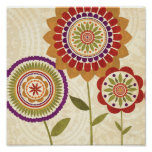 Contemporary Fall Flowers Poster