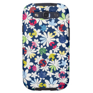 Contemporary Floral Pattern Samsung Galaxy SIII Covers