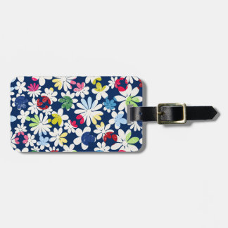 Contemporary Floral Pattern Travel Bag Tags