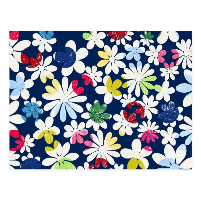 Contemporary Floral Pattern Postcard