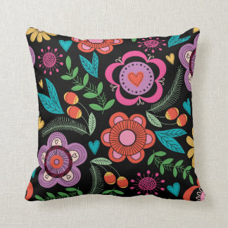 Contemporary Floral Pillow - SRF