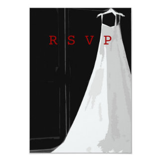 Contemporary Formal Wedding Gown RSVP Cards