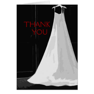 Contemporary Formal Wedding Gown Thank You Cards