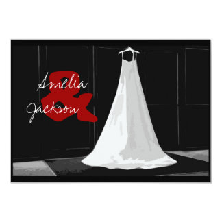 Contemporary Formal Winter Wedding Gown Invitation