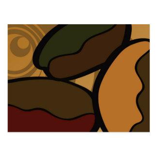 Contemporary, Fun & Colorful Coffee Bean Postcard