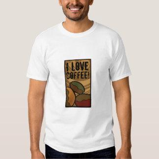 Contemporary, Fun & Colorful Coffee Bean Shirt! Tees