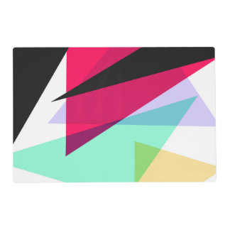 Contemporary Geometric Triangles Placemat