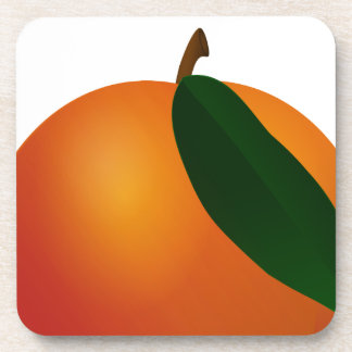 Contemporary Georgia Peach / Apricot Coaster