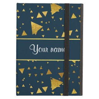 Contemporary Gold Triangles on Navy Blue iPad Air Case