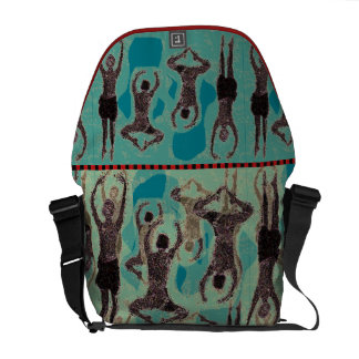 Contemporary Graphic Jumping Dancers Messenger Bag