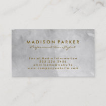 Contemporary Gray Watercolor Brushed (Gray) Business Card