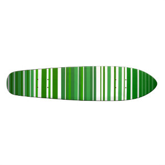 Contemporary green and white stripes skate deck