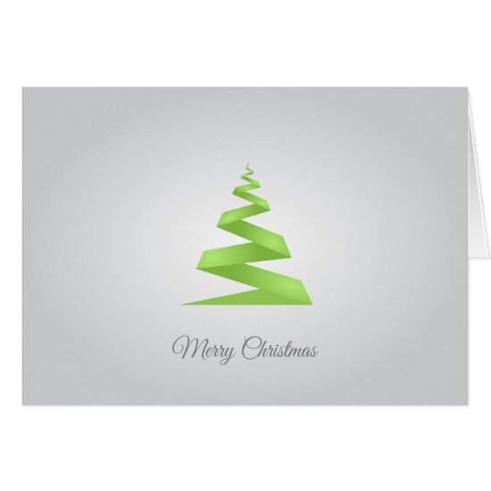 Contemporary, Green Geometric Christmas Tree Card