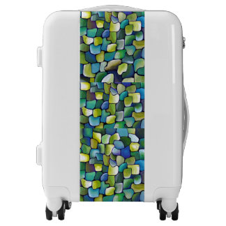 Contemporary Green Pattern Luggage
