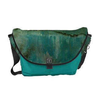 Contemporary Green Watercolor Courier Bag