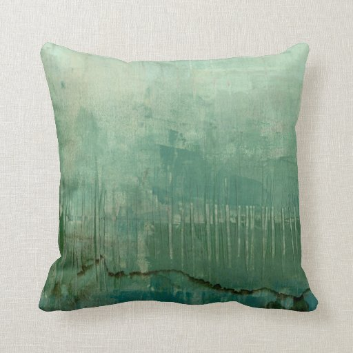 Throw Pillows Green Couch : Contemporary Green Watercolor Throw Pillow Zazzle