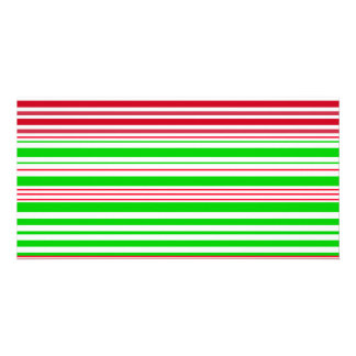 Contemporary green white and red stripes photo card