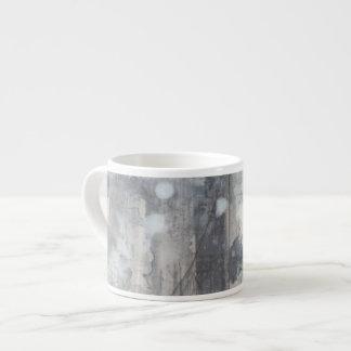 Contemporary Grey Painting Espresso Cup